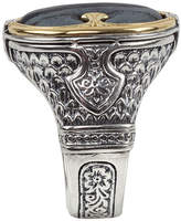 Konstantino 18K Gold/Silver Ferrite Ring, Size 10