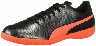 Puma Men's Rapido Indoor Trainer Sneaker Black-Red red Aged Silver 10 M US