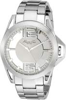 Kenneth Cole New York Men's 'Transparency' Quartz Stainless Steel Dress Watch (Model: 10022529)