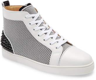 Christian Louboutin Lou Spikes High Top Sneaker