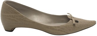 Marc Jacobs Beige Leather Flats