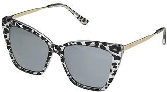 DIFF Eyewear Becky II (Clear Leopard/Grey) Fashion Sunglasses