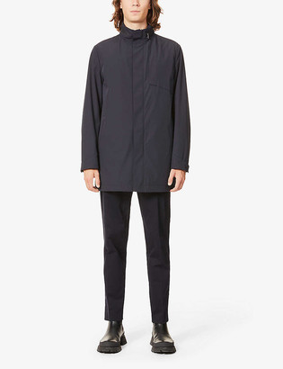 Corneliani Funnel-neck shell coat