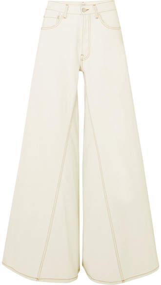 Ganni Paneled Jeans - Ivory