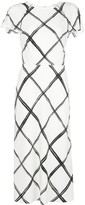 Thumbnail for your product : Jason Wu Collection Fence-print midi dress