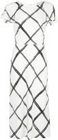 Jason Wu Collection Fence-print midi dress