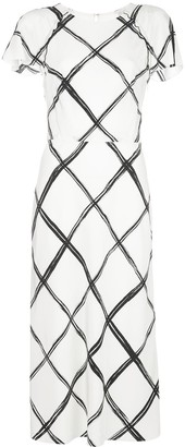 Jason Wu Collection Fence-print midi dress