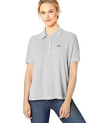 Lacoste Women's Short Sleeve Relaxed FIT Lyocell-Cotton Polo