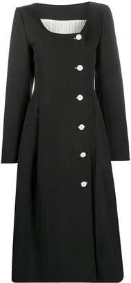 Nina Ricci Button-Front Midi Dress