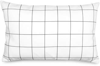 Olli + Lime Baby's Monochrome Grid Cotton Linen Blend Lumbar Pillow