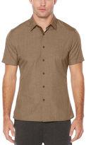 Perry Ellis Short Sleeve Active Woven Shirt