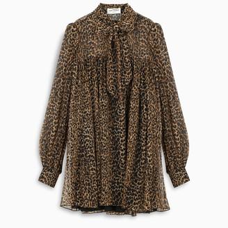 Saint Laurent Leopard-print dress