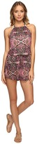 Lucky Brand Tapestry High Neck Romper Cover-Up Women's Jumpsuit & Rompers One Piece