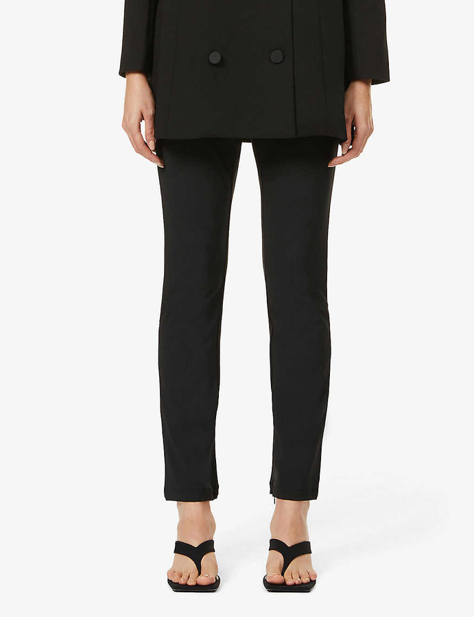 Good American The Boss straight-leg high-rise stretch-woven trousers