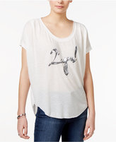 William Rast High-Low Legend Graphic T-Shirt