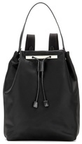 The Row Backpack 11 leather-trimmed backpack
