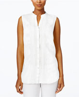 Charter Club Linen Embellished Shirt, Created for Macy's