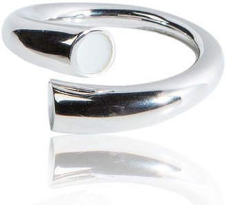Mother of Pearl Twisted Ring & Silver