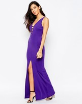 Jessica Wright Serena Strappy Maxi Dress With Slit