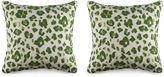 Miles Talbott Collection S/2 Tonga 19.5x19.5 Pillows, Green