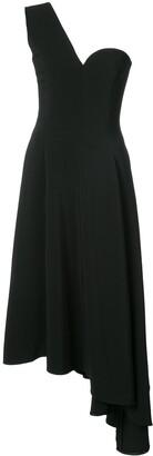 Rosetta Getty One-Shoulder Asymmetric Dress