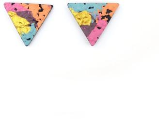 Berf&Bash Creta Triangle Studs Pink