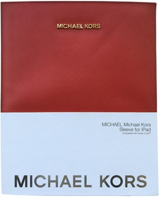 Michael Kors Red Leather Accessories