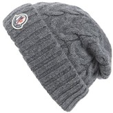 Moncler Men's Berretto Cable Knit Wool Beanie - Grey