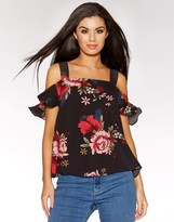 Quiz Floral Bardot Top
