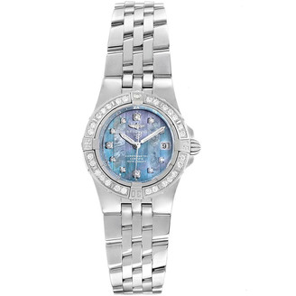 Breitling Blue MOP Stainless Steel Starliner A71340 Women's Wristwatch 30MM