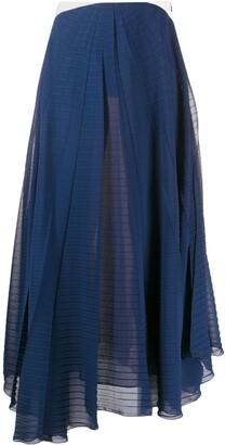 Roland Mouret Colour Block Maxi Skirt