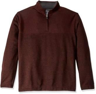 Van Heusen Men's Big and Tall Flex 1/4 Zip Texture Block Sweater Fleece Large Tall