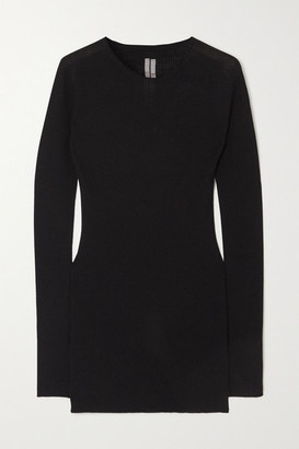 Rick Owens Ribbed Wool Sweater - Black