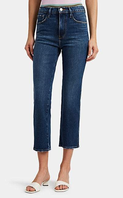 Frame Women's Le Sylvie Crop Straight Jeans - Blue