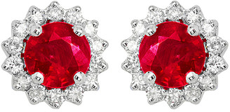 Diana M Fine Jewelry 14K 0.81 Ct. Tw. Diamond & Ruby Earrings