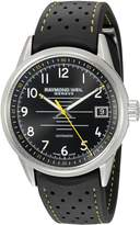 Raymond Weil Men's 'Freelancer' Swiss Automatic Stainless Steel and Rubber Casual Watch, Color:Black (Model: 2754-SR-05200)