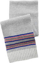 Nautica Men's Tuck Stitch Striped Scarf