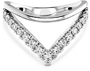 Hayley Paige for Hearts on Fire 18K White Gold Harley Silhoutte Power Band with Diamonds & Pink Sapphire