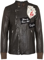 Maison Mihara Yasuhiro Appliquéd Leather-effect Biker Jacket