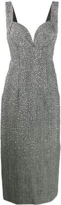 Ermanno Scervino stud-embellished houndstooth dress