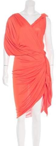 Lanvin Draped Midi Dress w/ Tags