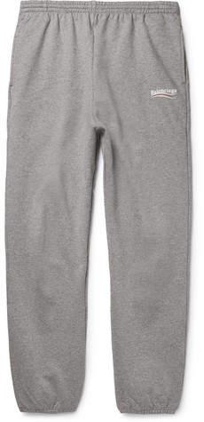 Balenciaga Tapered Logo-Print Loopback Cotton-Jersey Sweatpants