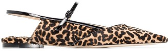 Jimmy Choo Ree leopard-print ballerina shoes