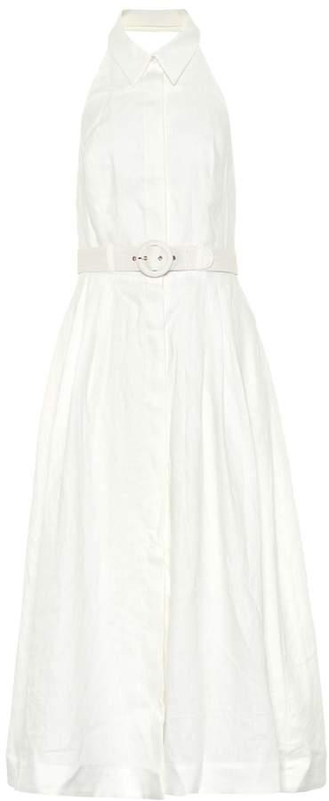 Zimmermann Primrose linen halter dress