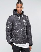 Hype Padded Overhead Jacket With Paint Splatter Print