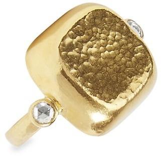 Gurhan Bon Bon 24K Yellow Gold & Diamond Ring