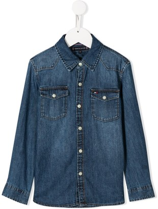 Tommy Hilfiger Junior rigid denim shirt