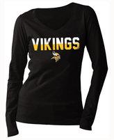 5th & Ocean Women's Minnesota Vikings Huddle LE Long Sleeve T-Shirt