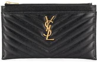 Saint Laurent Monogram matelasse quilted clutch