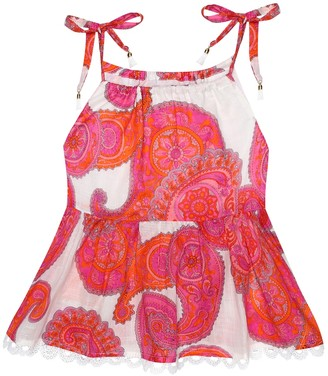 Zimmermann Kids Peggy paisley-print cotton top